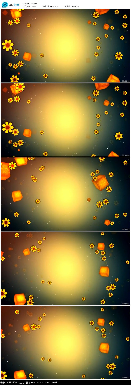 花朵飘落高清舞台背景视频素材