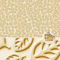 金色树叶客厅壁纸图案设计