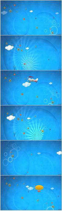 卡通六一儿童节视频背景