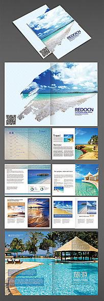 简约旅游度假画册模板