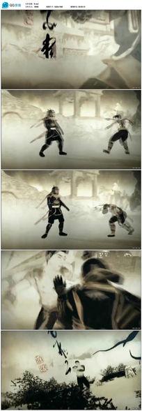 水墨武术格斗视频素材