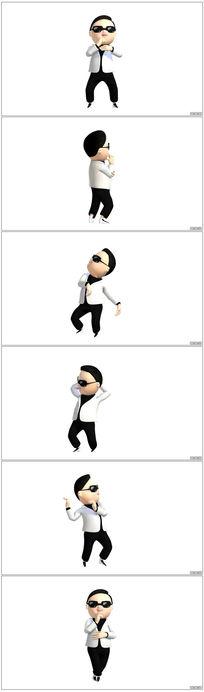 3D鸟叔跳舞视频素材