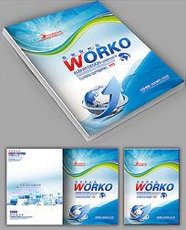 IT科技线条画册封面设计