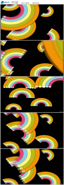 彩虹太阳儿童卡通LED背景视频 mov