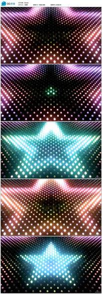 迪吧五星灯光秀LED背景视频
