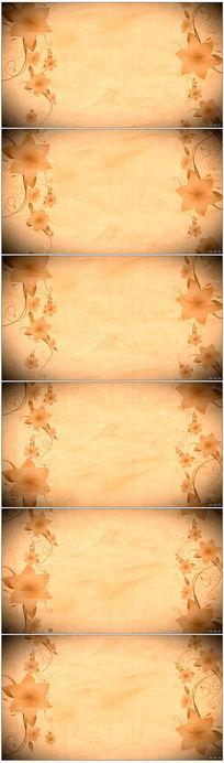 古典花纹背景视频