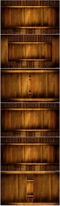 古典木纹背景视频
