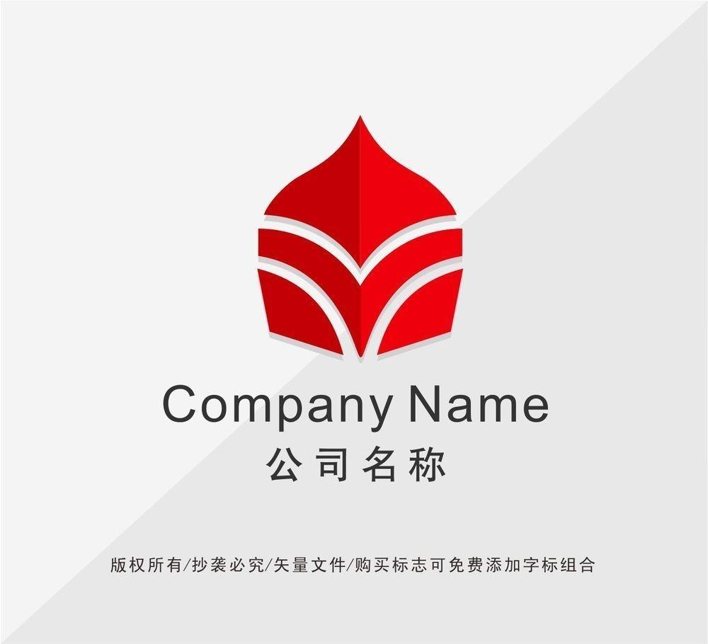 字母v变形logo设计