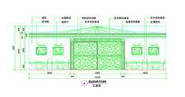 风味餐厅CAD立面图