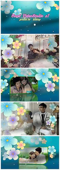 会声会影时尚花朵婚礼婚庆视频模板