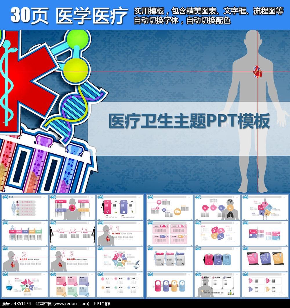 ppt医疗卫生模版_ppt模板/ppt背景图片图片素材图片