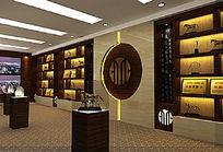 企业荣誉展厅3d模型