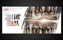 中国风集团文化团队精神展板