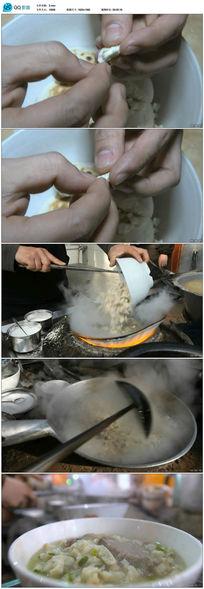 陕西名吃羊肉泡馍实拍视频