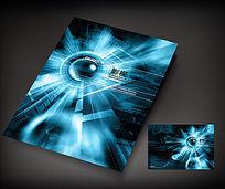 蓝色炫酷影视画册封面设计