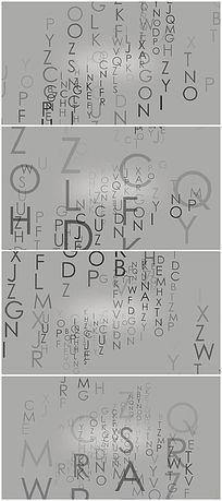 26个字母变化动画视频背景