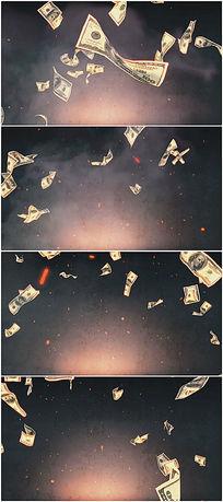 美元洒落动态视频