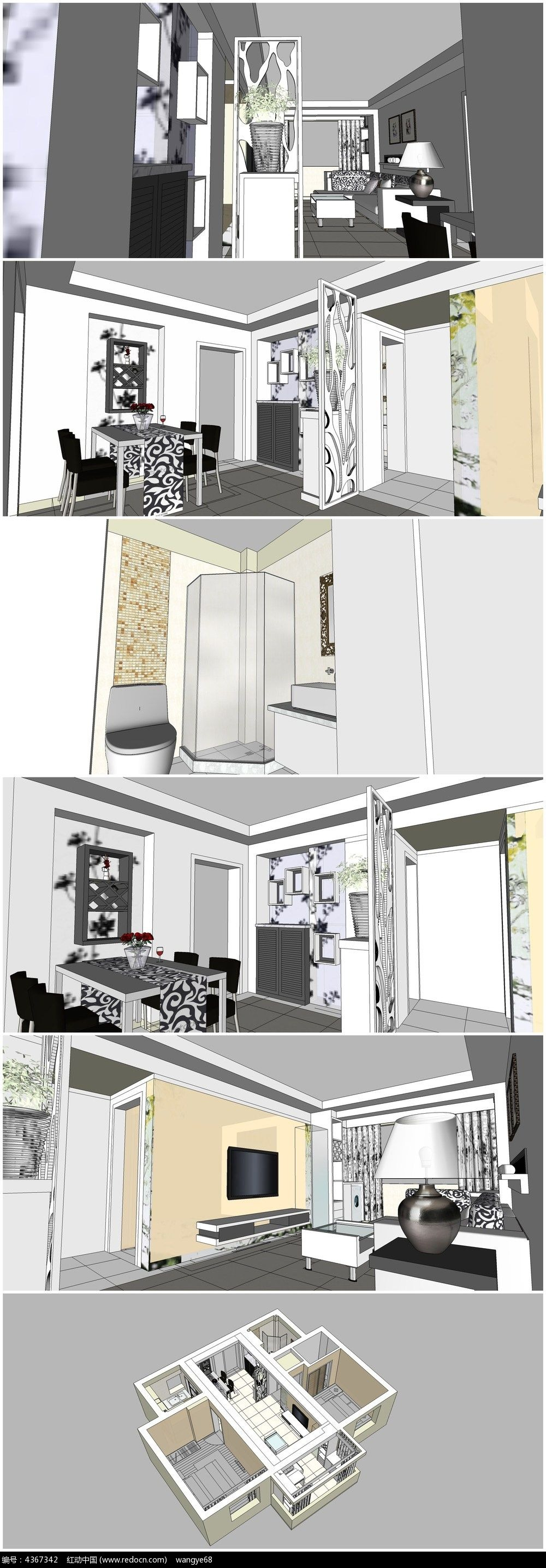 标签:sketchup模型 SU模型 草图大师 建筑设计 厨房设计 餐厅设计 小空间室内设计 室内餐厅装潢设计 餐桌 厨房整体布局SU模型 3d模型下载