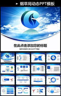 大气中国烟草公司销售PPT