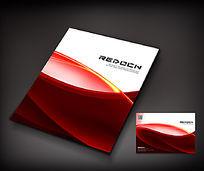 简约红色政府画册封面设计