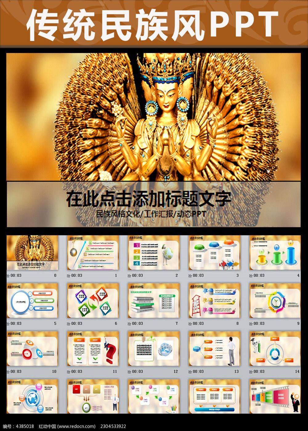 藏族佛教文化ppt动态模板