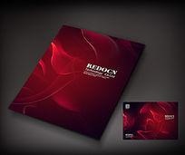 红色烟雾政府画册封面设计