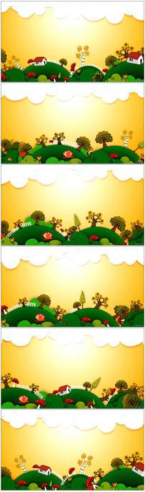 卡通儿童场景视频背景
