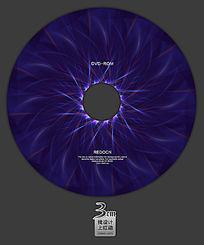 蓝色抽象光盘面设计