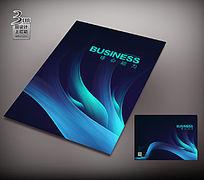 梦幻线条广告册封面设计