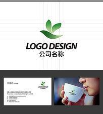 鸟叶子LOGO标志设计