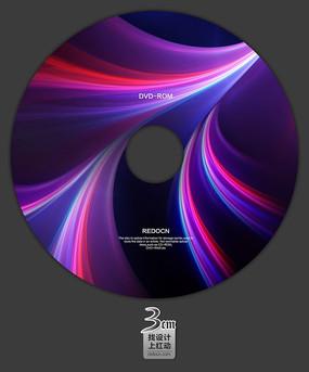 紫色视频光盘封面设计 PSD