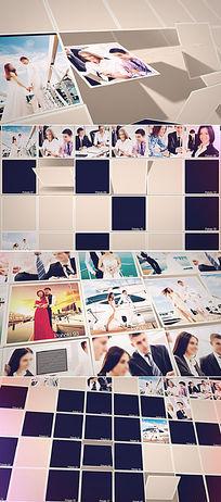 100张照片墙ae模板视频