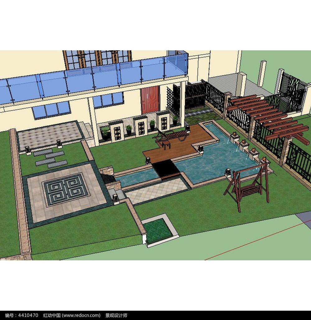 10款 中式别墅SU模型