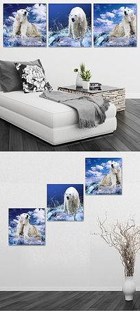 冰雪北极熊无框画