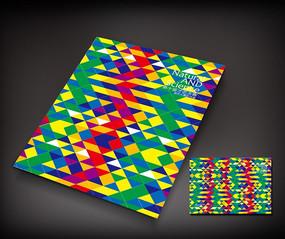 炫彩三角广告册封面设计