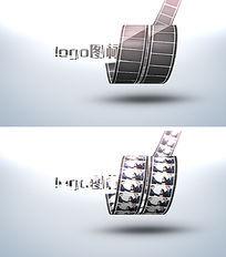 电影胶卷演绎logo标志片头模板