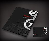 黑色齿轮工业画册封面