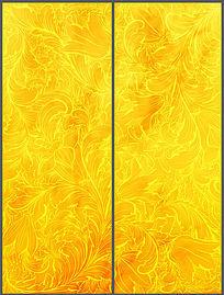 金色奢华古典花纹移门图案