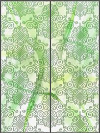 10款 清新淡雅花纹移门图案设计PSD下载
