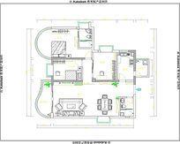三房两厅两卫室内cad布置图