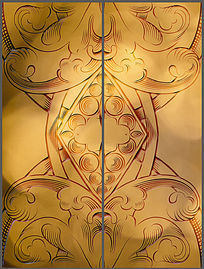 奢华大气金色花纹移门图案