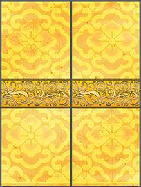 奢华金色花纹移门图案