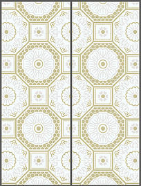 温馨中式花纹移门图案