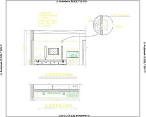 电视背景墙CAD立面图