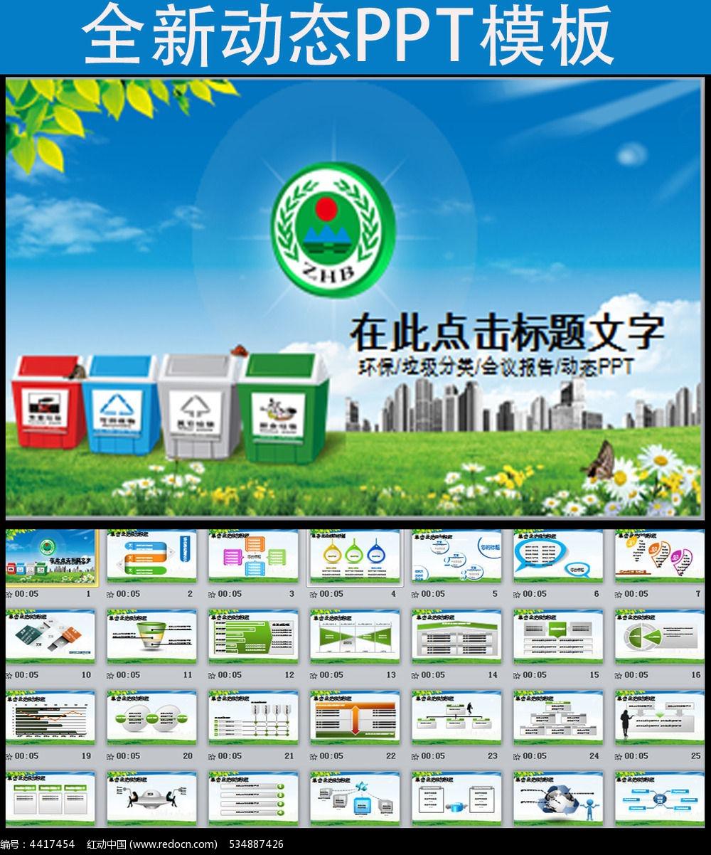 环保局垃圾分类ppt模板