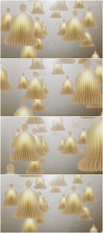 悬挂的纸灯笼视频背景