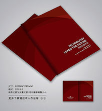 暗红色高档画册封面设计
