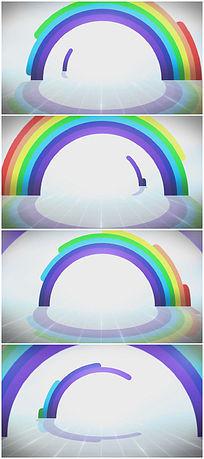 彩虹背景视频素材