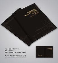 传统黑色封面背景设计