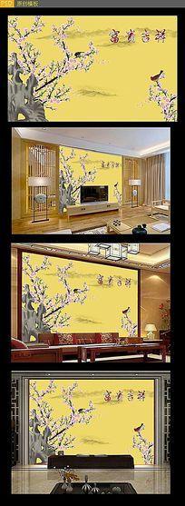 电视背景墙壁画